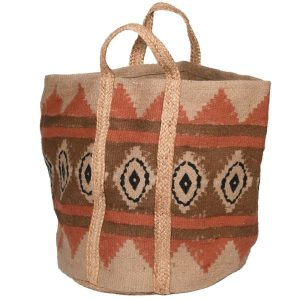 Pattern Woven Storage Bag