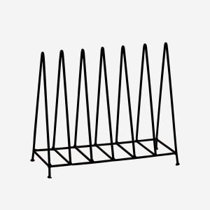 Black Plate Rack