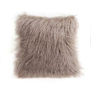 Tibetan Sheepskin Cushion Birch