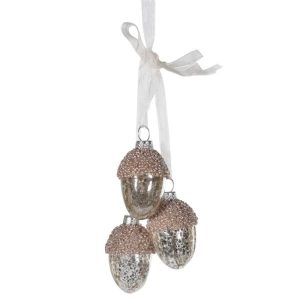 Antique Mocha Hung Acorns