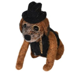 Decoration Felt Sherlock Dog