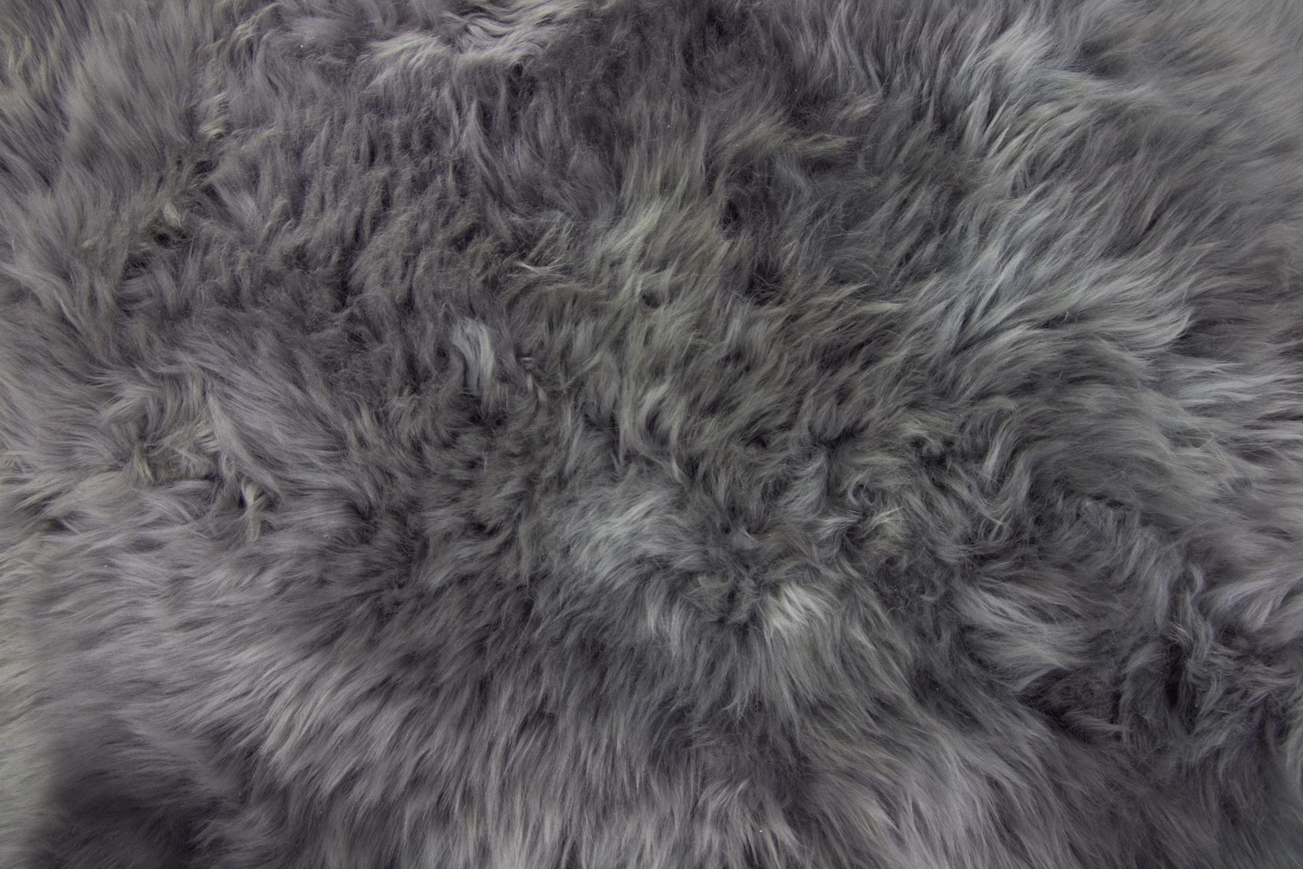 Silky Triple Sheepskin Rug Grey