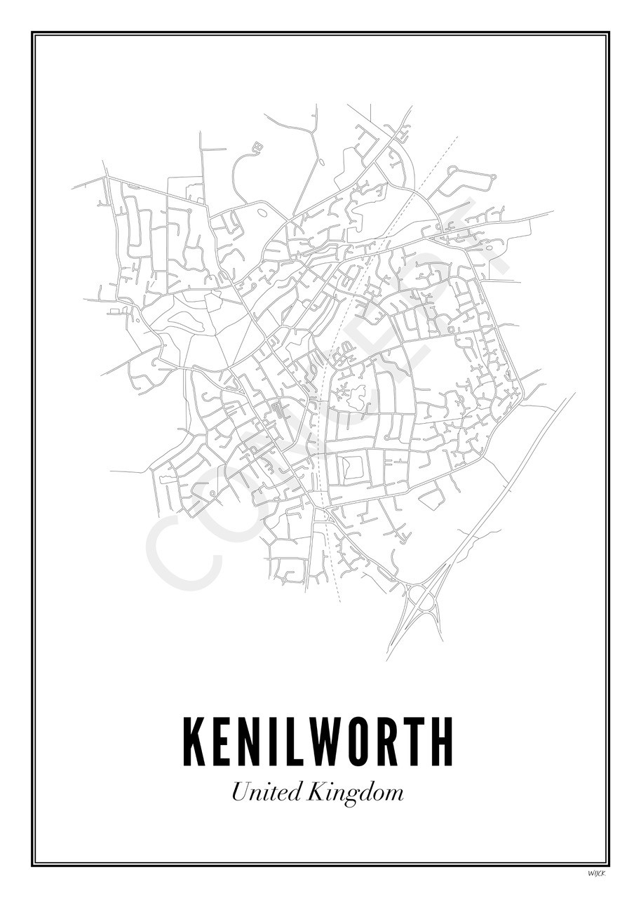 Kenilworth Town Print with Frame
