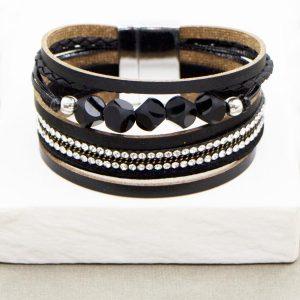 Multi Strand Bracelet with Glass Beads