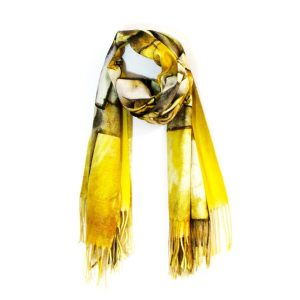 Scarf with Digital Print Picasso Abstract