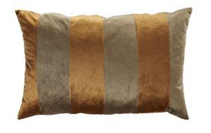 Carmel and Gold Stripe Cushion