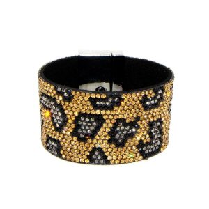 Animal Pattern Studded Bracelet
