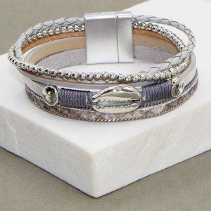 Multi-strand Bracelet with Cowrie Pendant