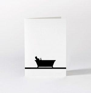 Bathtime Rabbit Card