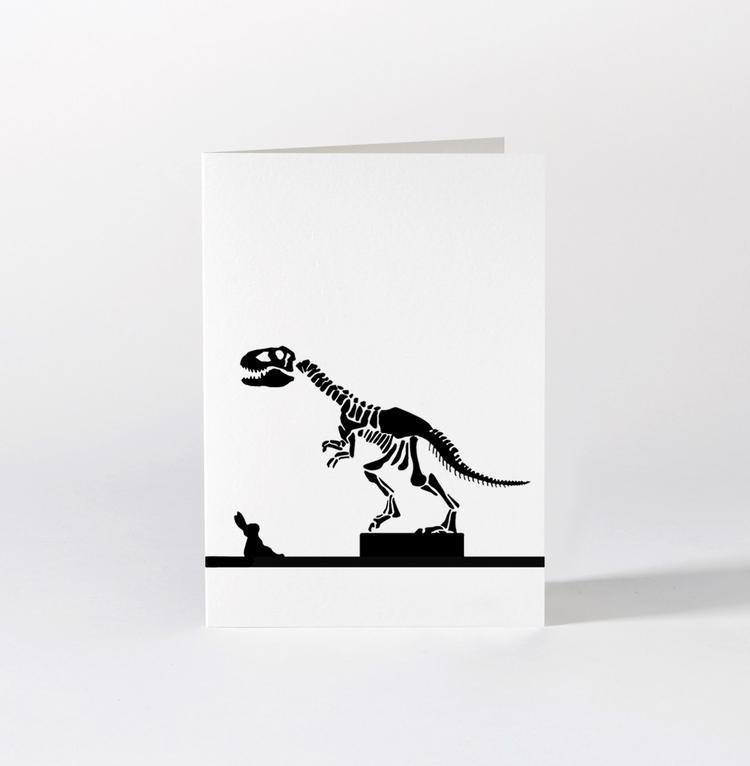 Dinosaur Rabbit Card