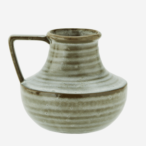 Green Red Stoneware Jug Style Vase