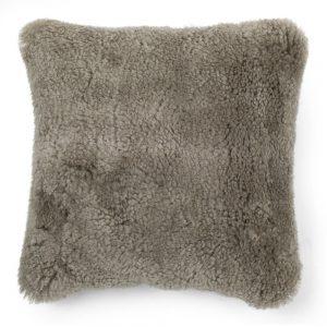 Beige Sheepskin Cushion