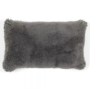 Grey Sheepskin Cushion