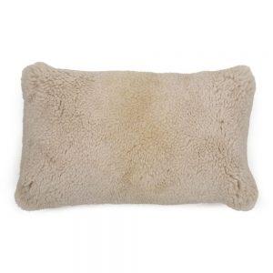 Off White Sheepskin Cushion 50x30cm