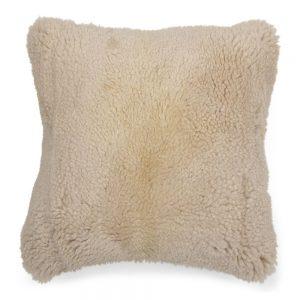Off White Sheepskin Cushion