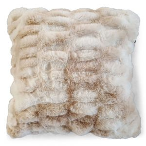 Faux Fur Large Ribbed Cushion