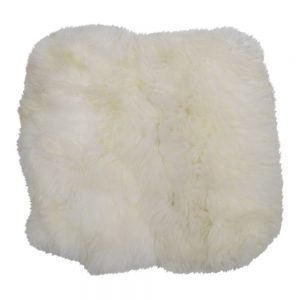 Sheepskin Seat Pad in Off White
