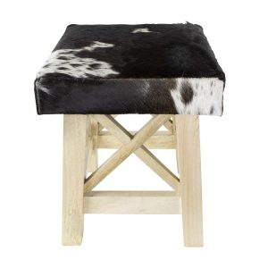 Stool Black and White Cow Print