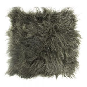 Curl Hair Sheepskin Seat Pad in Green