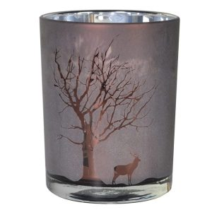 Frosted Chocolate Small Tree Candleholder