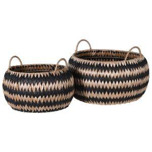 Set of Two Zig Zag Rush Baskets