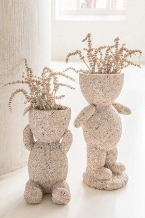 Set of Two Figure Flowerpots