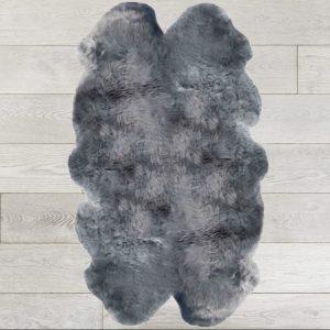 Silky Quad Sheepskin Rug Light Grey