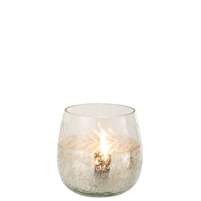 Cracked Glass Tea Light Holder