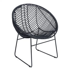 Black Rotan Cocoon Chair