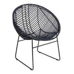 Black Rotan Cocoon Chair