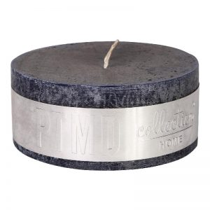 Rustic Night Blue Pillar Candle