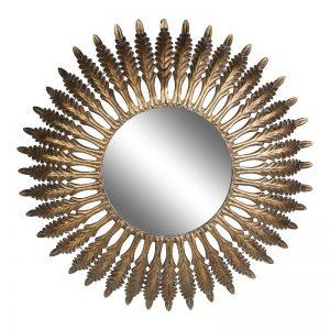 Round Gold Metal Sunny Mirror