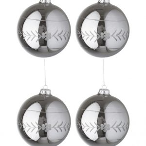 Carved Glass Pearl Christmas Bauble