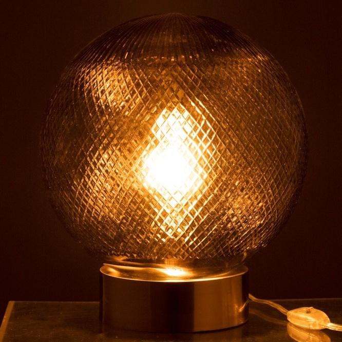 Glass Ball Table Lamp