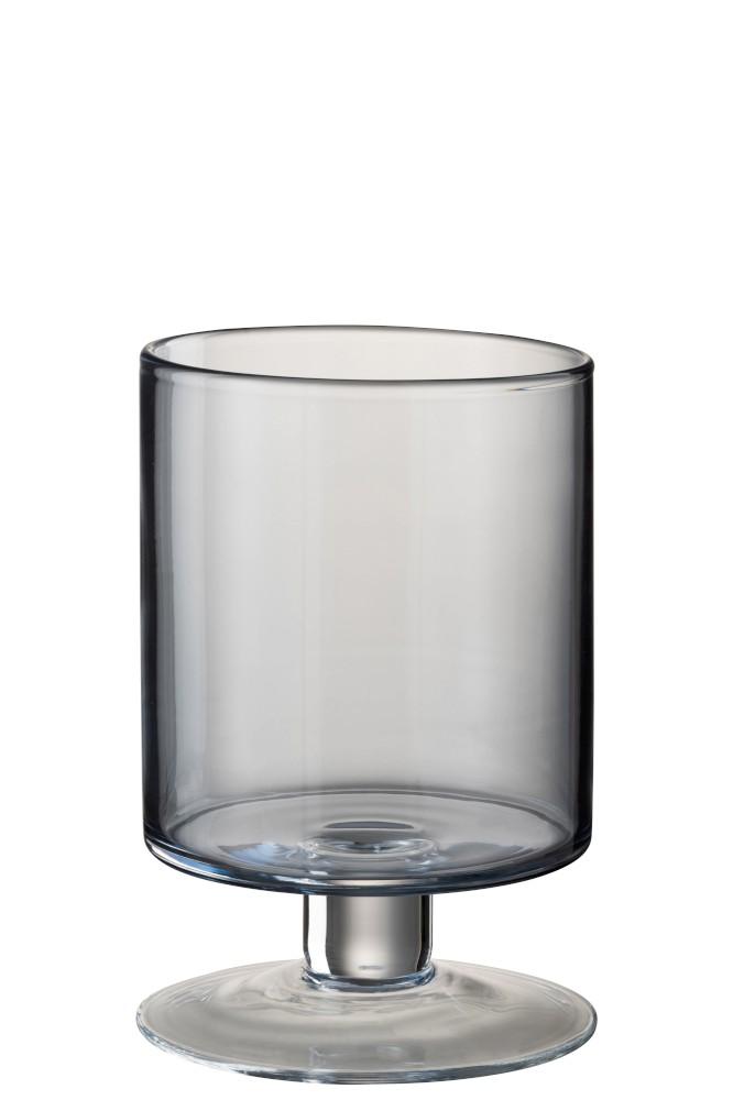 Blue Medium Hurricane Glass Lamp