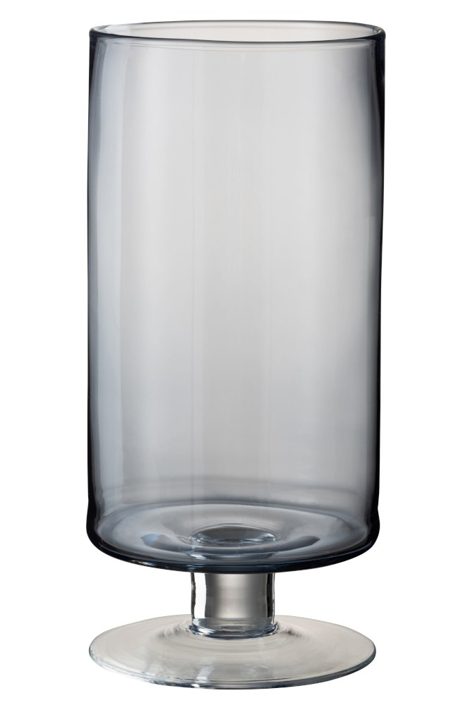 Large Blue Hurricane Glass Lamp