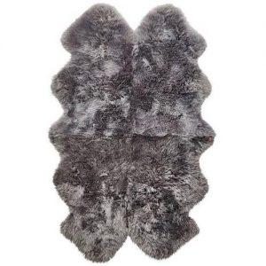 Silky Quad Sheepskin Rug Grey