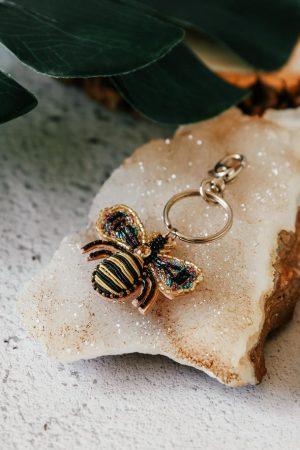Bee Keyring