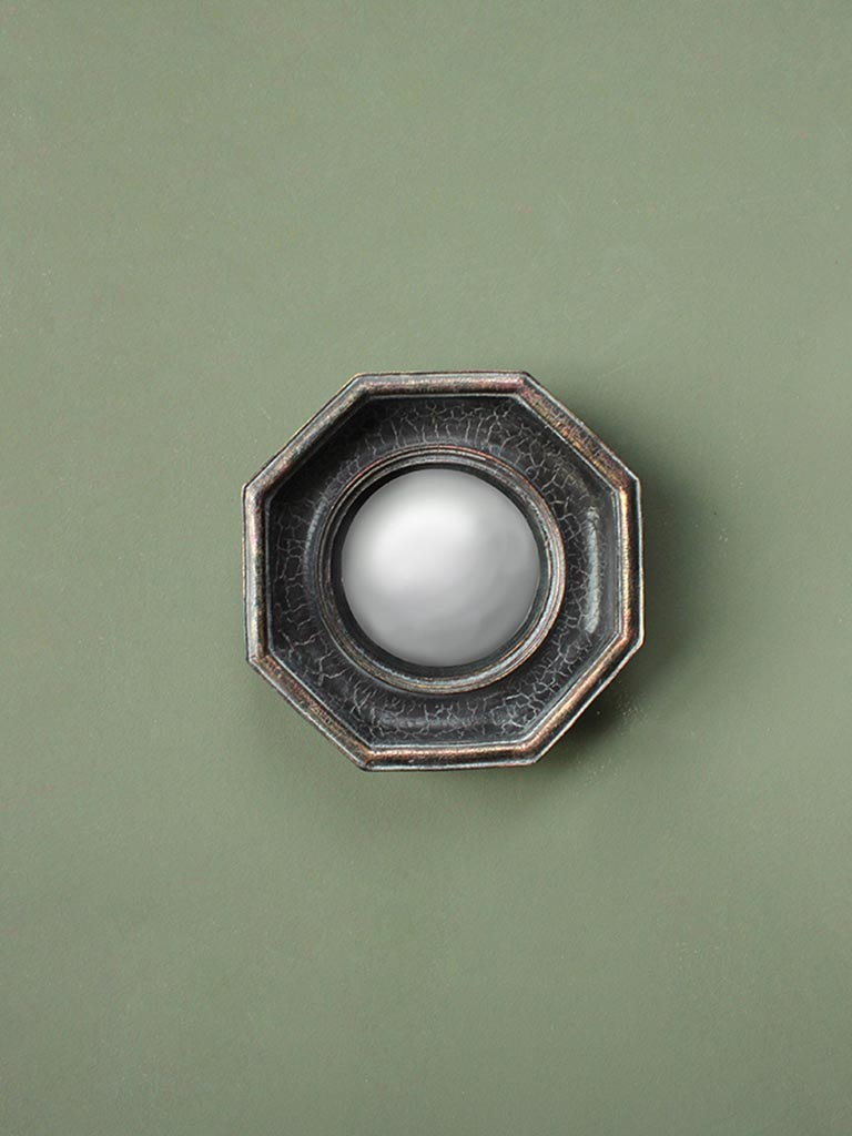 Octagonal Antique Black Mirror