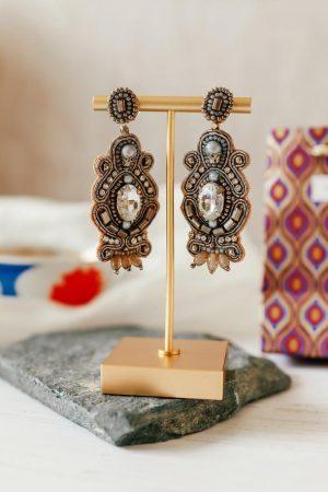 Ornate Silver Drop Earrings