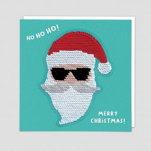Greetings Card Cool Santa