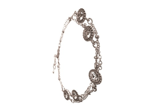 Double Bracelet with Crystals