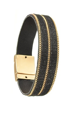 Bracelet in Charcoal/Matt Gold