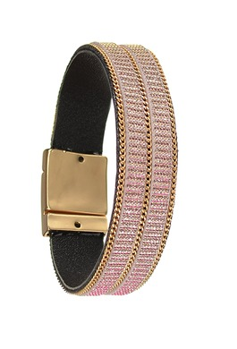 Bracelet in Pink/Matt Gold
