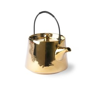 Ceramic Gold Tea Pot