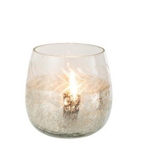 Cracked Glass Tea Light Holder