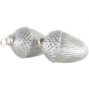 Large Antique Silver Acorn