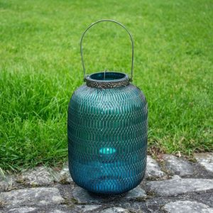 Large Honeycomb Lantern In Turquoise