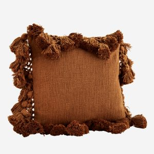 Sugar Almond Cushion with Tassels