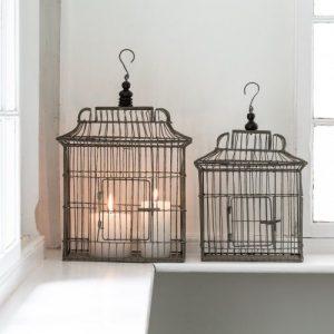 Wire Bird Cage Set of 2